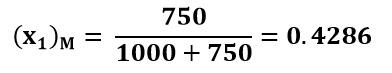 Coordenada del flujo inferior en el punto de mezcla del ejemplo 2
