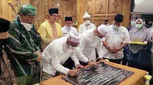 Bersama Wagub Sumut, H.Puspo Wardoyo Resmikan Masjid Al Musannif di Rumah Makannya
