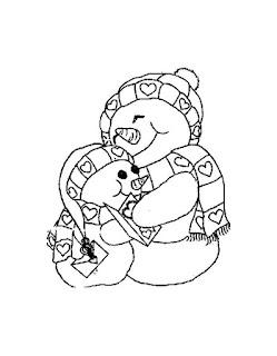 אבא וילד בובות שלג לצביעה