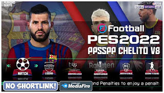 Download eFootball PES 2022 PPSSPP Fix Callname Commentary Peter Drury & New Update Transfer