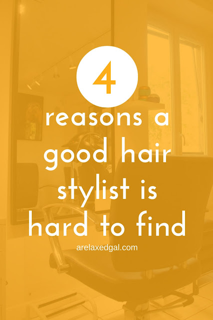Finding a good hair stylist can be hard. A Relaxed Gal shares her stylist experiences and her thoughts on why it's so hard. | arelaxedgal.com