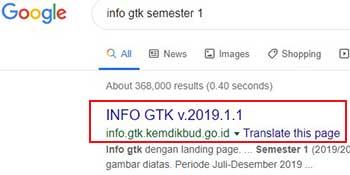 Info GTK Semester 1 2019/2020