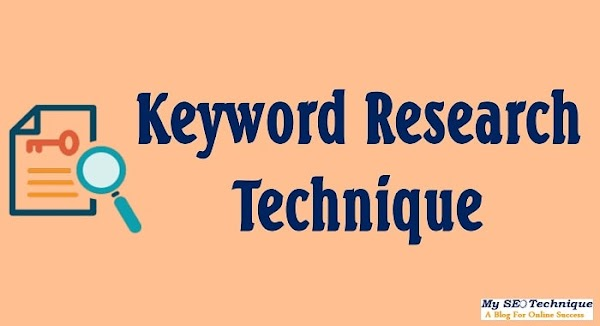 Manual Keyword Research Technique