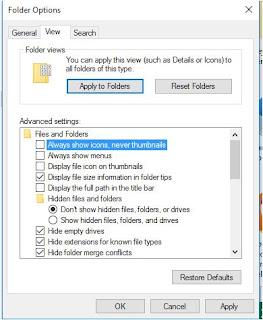 cara mengatasi gambar thumbnails tidak muncul di windows 10