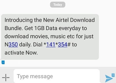 Airtel New Download Bundle – Get 1GB Data For Just N350