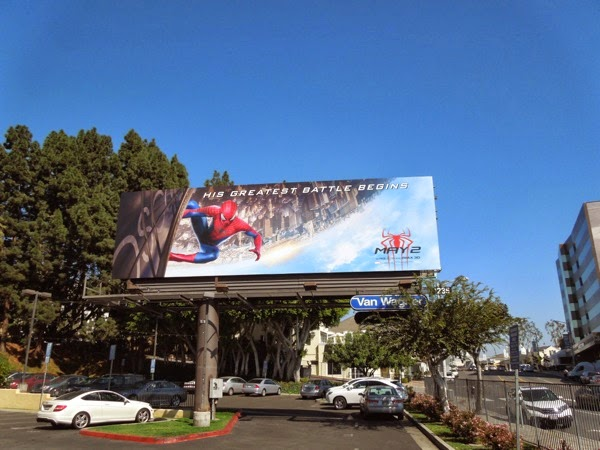 Amazing Spider-man 2 movie billboard