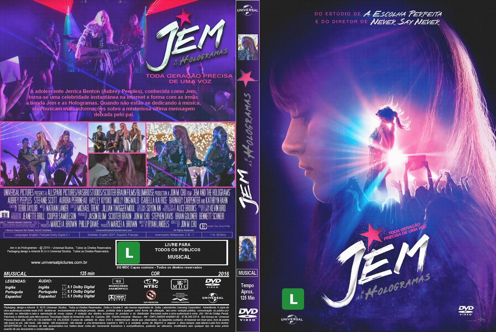 Jem e as Hologramas BDRip XviD Dual Áudio Jem 2Be 2Bas 2BHologramas 2B  2BXANDAO 2BDOWNLOAD