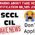 Fake job alert SCCL CIL NOTIFICATION 88,585 jobs Fake news