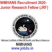 NIMHANS Recruitment 2020- Junior Research Fellow (JRF)