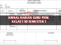 Jurnal Harian Guru PJOK Kelas 1 SD/MI Semester 1 Terkini