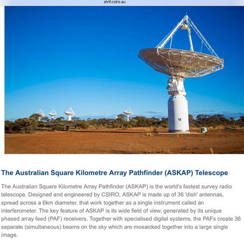 ASKAP Array in western Australia (Source: www.atnf.csiro.au)