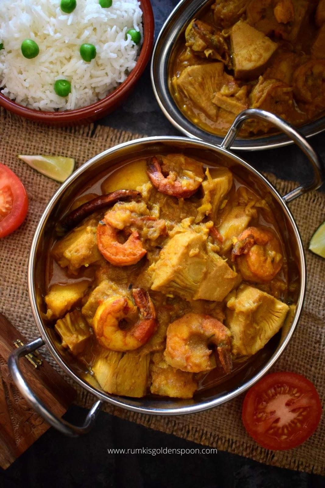 echor chingri, echor chingri recipe, echor chingri recipe Bengali, echor recipe, echor recipe Bengali, echor chingri bengali recipe, how to make echor chingri, chingri diye echor, kathal chingri recipe, kathaler echor recipe, echor ranna recipe, echor curry recipe, enchor chingri, kathal chingri, gach patha recipe, gach patha, kathal ki sabzi, kathal ki sabzi recipe, kathal ki sabzi with gravy, how to make kathal ki sabzi, recipe for kathal ki sabzi, recipe of kathal ki sabzi, kathal ki sabzi bengali style, jackfruit curry, recipe for jackfruit curry, jackfruit curry recipe, jackfruit curry bengali style, Jackfruit with prawn recipe, Bengali style jackfruit curry, jackfruit shrimp curry, bengali recipe, bengali recipes, bengali food, bengali food recipes, traditional bengali food, Bengali recipe fish, Bengali recipes fish, Rumki's Golden Spoon