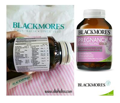 Komposisi Blackmores Pregnancy and Breastfeeding Gold