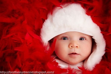 Cute Christmas baby.