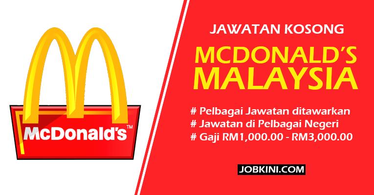 Jawatan Kosong di Mcdonald's Malaysia