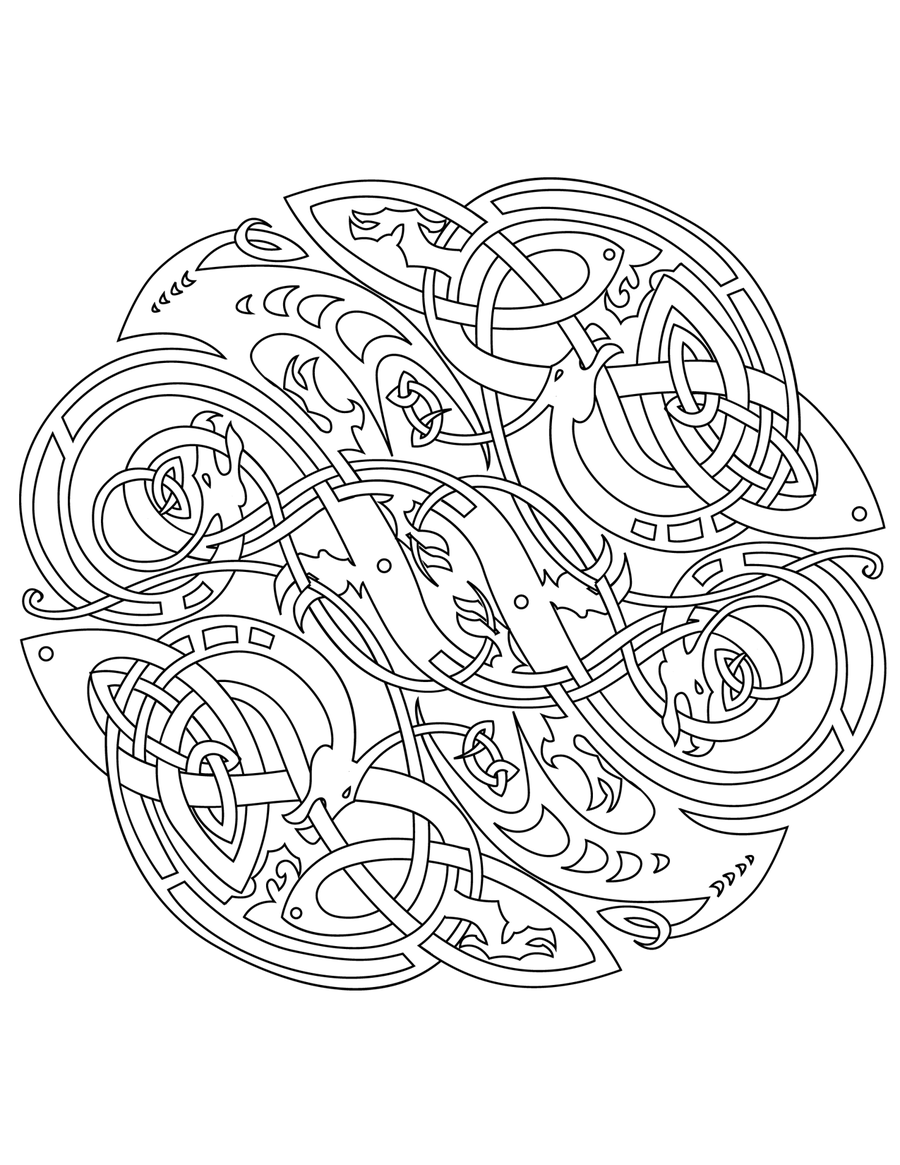 celtic adult coloring pages | MANDALA COLORING PAGES: CELTIC MANDALA COLORING PAGES FOR ...