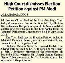 High Court dismisses Election Petition against PM Modi
