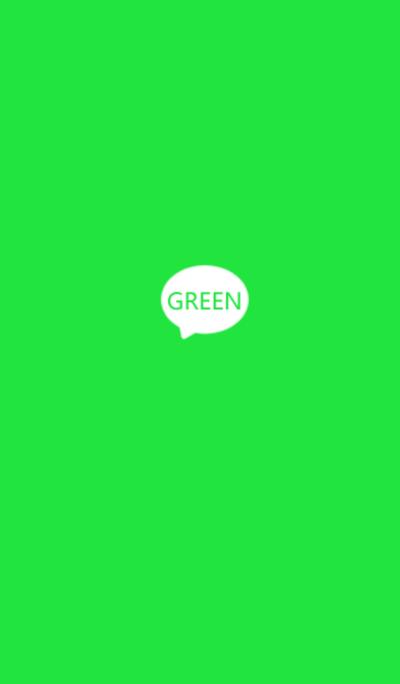 Green. simple.