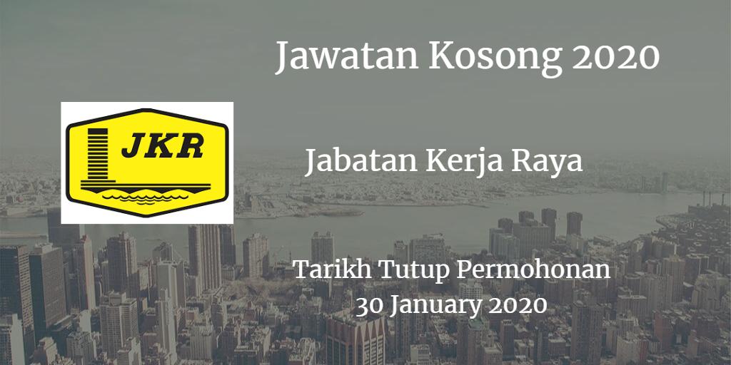 Jawatan kosong JKR 30 January 2020