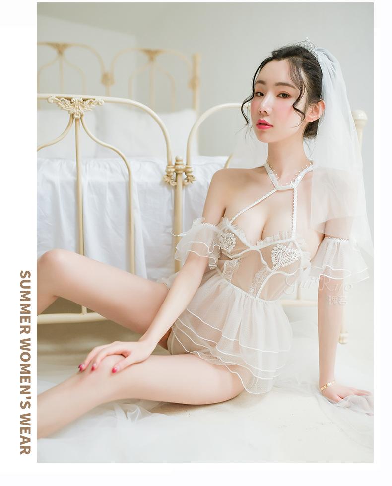 Váy ngủ cosplay cô dâu trắng sexy 2