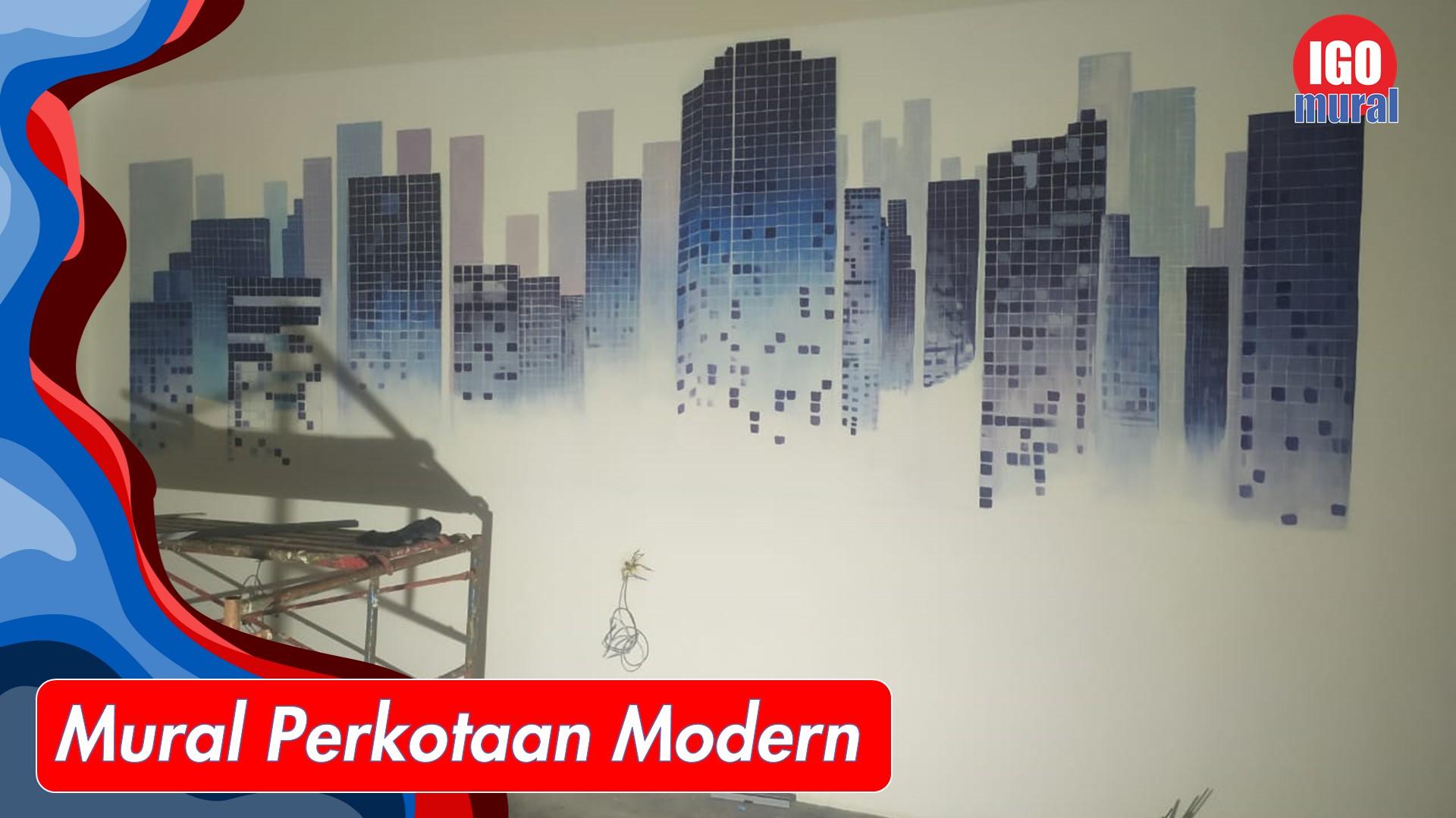 mural perkotaan modern