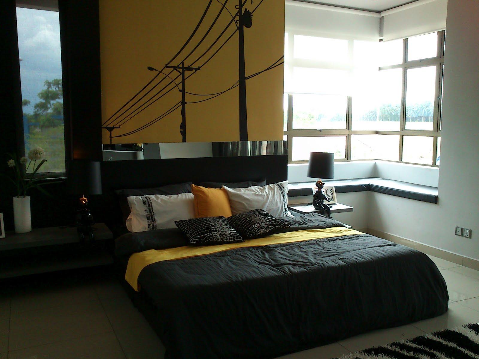 Bilik Tidur Warna Kuning Hitam