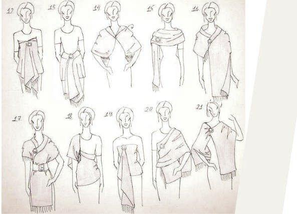 21 formas ponernos estola o chal, multiusos, bricomoda