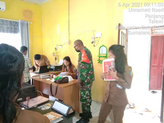 Gelar Komunikasi Sosial Bersama Dengan Perangkat Desa Dilakukan Personel Jajaran Kodim 0208/Asahan