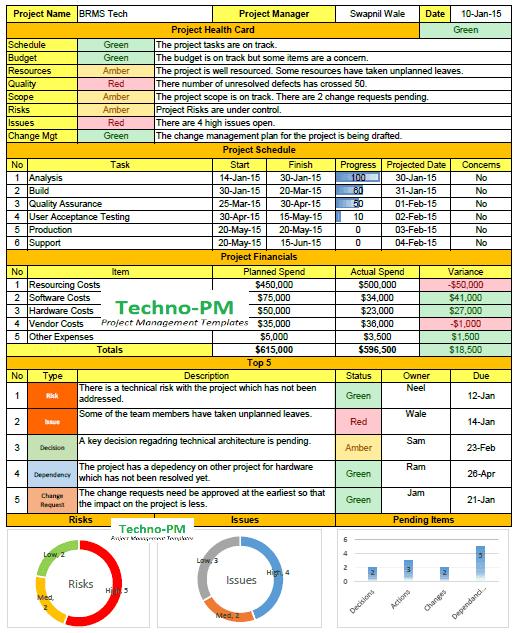 weekly report template, weekly status report format in excel