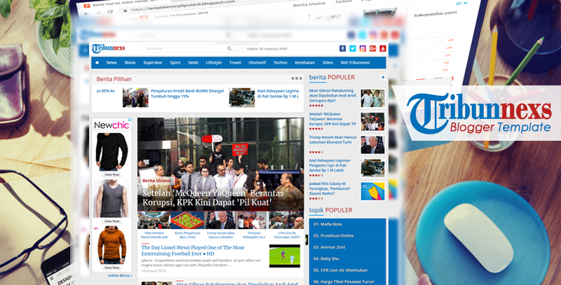 Tribunnexs - Template Blogger Mirip tribunnews