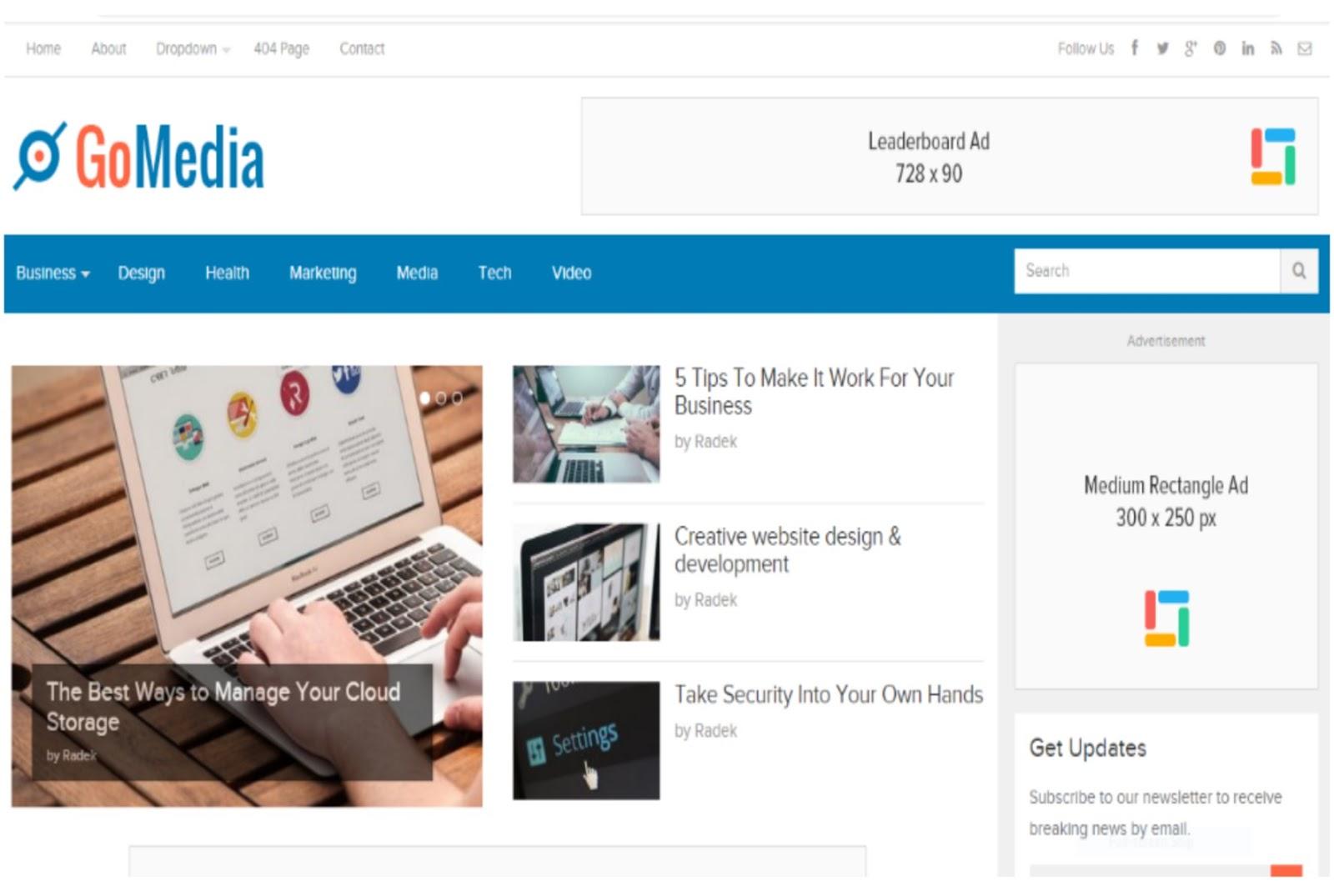 GoMedia Magazine WordPress Theme