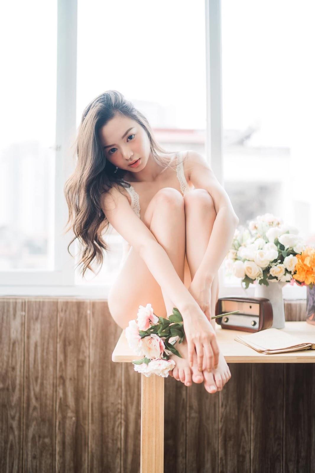 Vietnamese Sexy Model - Vu Ngoc Kim Chi - Beautiful in white - TruePic.net- Picture 22