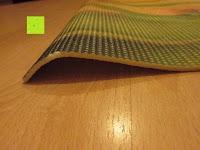 """gewölbt: Yogamatte """"Yoganidra"""" Die ideale Yoga- und Gymnastikmatte für Yoga-Einsteiger. Maße: 183 x 61 x 0,4cm / Bambus"""