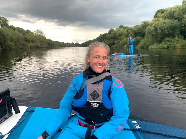 paddleboarding on river tyne northumberland