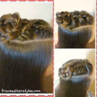 3 braided half up bun hairstyle tutorials