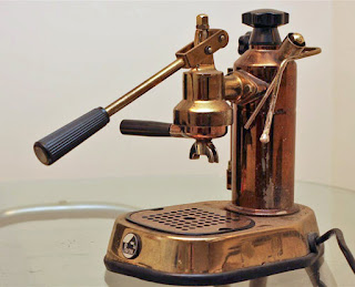 One of Desiderio Pavoni's early espresso machines