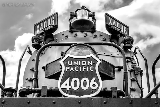 UP Big Boy 4006's bell, and number plate and boards