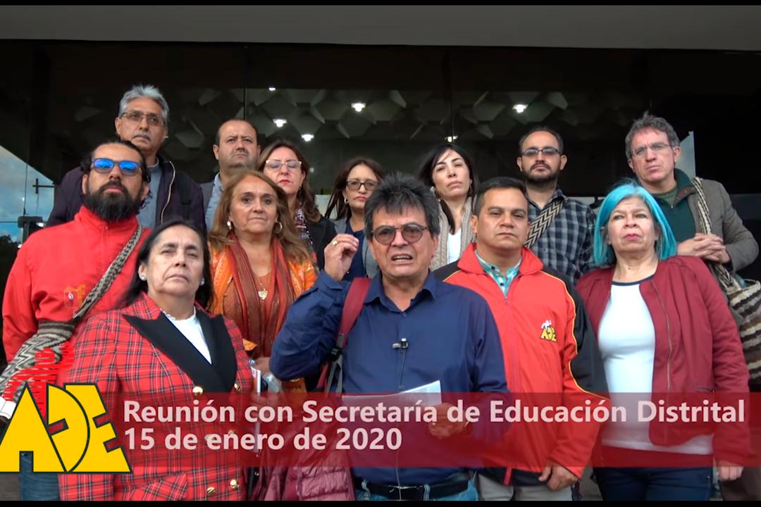 Reunión con Secretaría de Educación Distrital Enero 15 de 2020