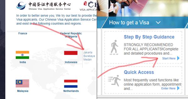 pembuatan visa china