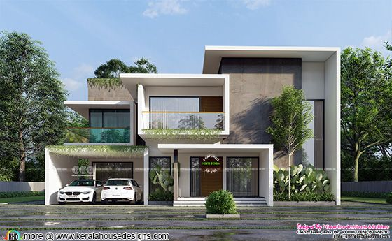 Front elevation of a Modern contemporary home