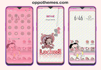 Betty Boop Merchandise Theme For Oppo Android Smartphone