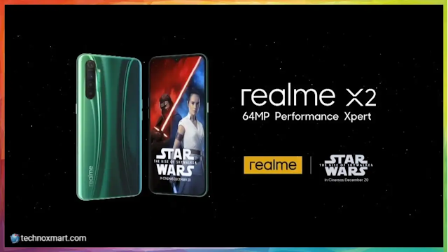 Realme X2 Star Wars Version Propelling  Nearby Realme Buds Air and Realme XT 730G on December 17, Flipkart Prods