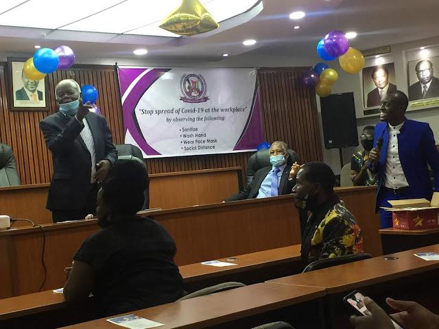COTU officials preside the launch of Jiepushe na Corona by Frank Thoya