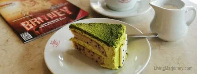 Matcha Cake at Figaro