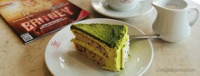 Matcha Cake at Figaro