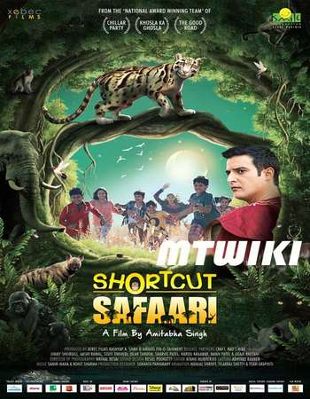 Poster Of Shortcut Safari 2016 Hindi 300MB pDVD 480p Watch Online Free Download Worldfree4u
