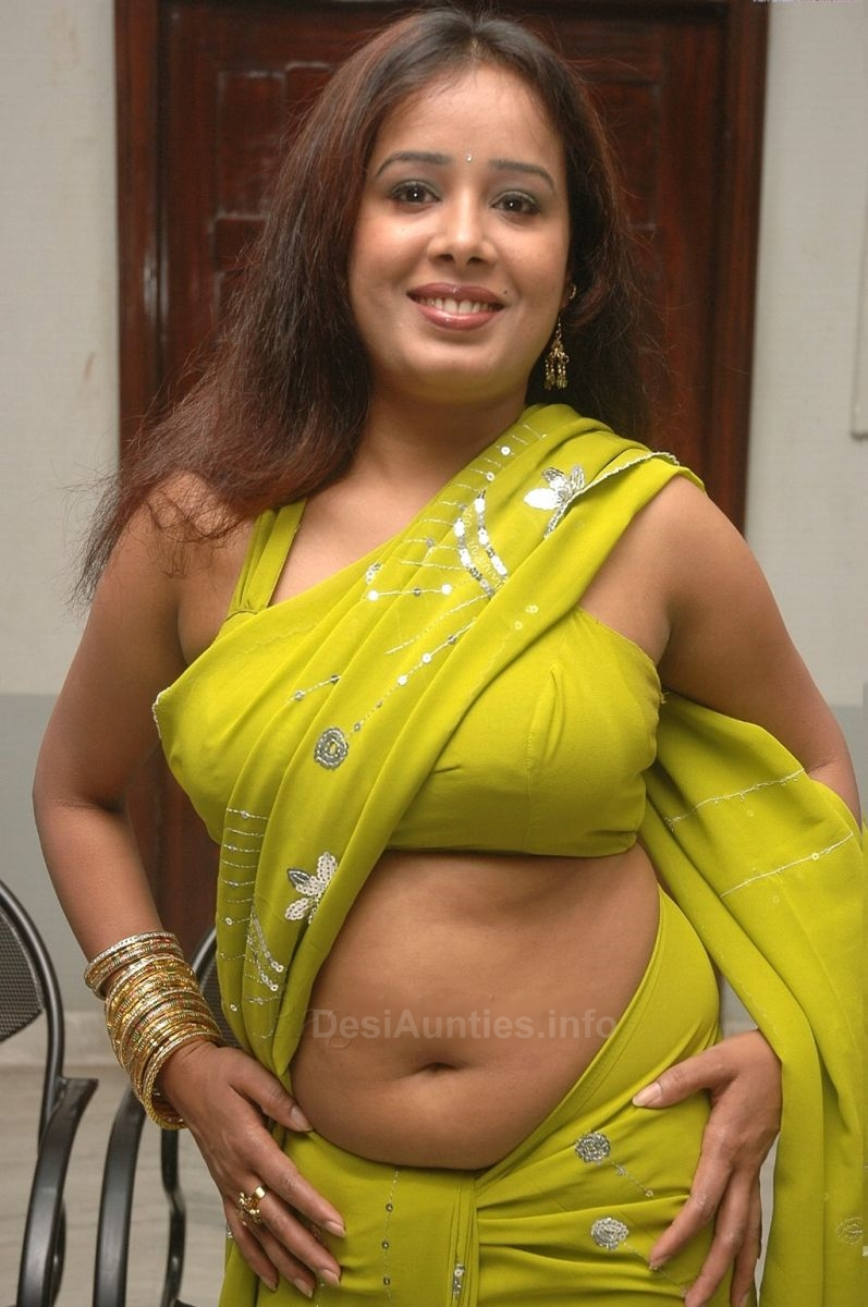 Sexy Aunty In Saree Pics