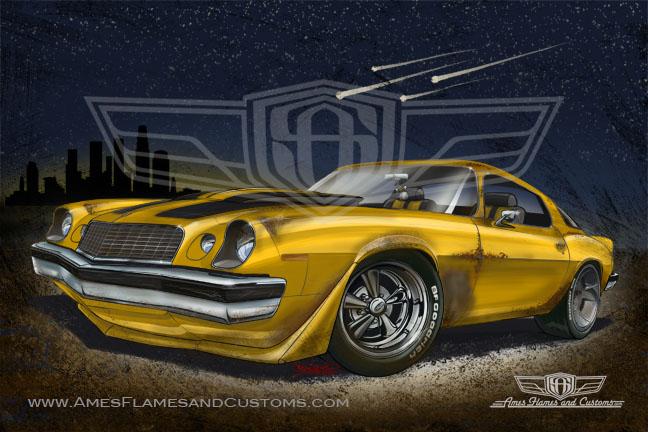 The Car Movie 1977 Wallpaper Sam Ames Bumblebee Camaro 1977 Rally Sport Lt