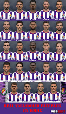 PES 2017 Facepack Real Valladolid 2019 by Eddie Facemaker