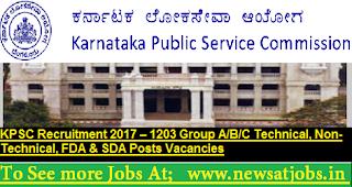 KPSC-Recruitment-2017-1203-Technical-Posts